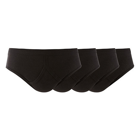 Thomas Nash - Pack of four black briefs
