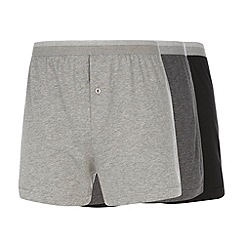 Thomas Nash - Pack of three grey and black loose fit boxers