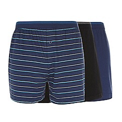 Thomas Nash - Pack of three blue button boxers