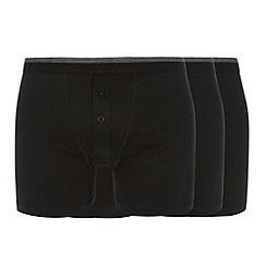 Thomas Nash - Pack of three black button boxers