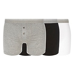 Thomas Nash - Pack of three grey black and white boxers