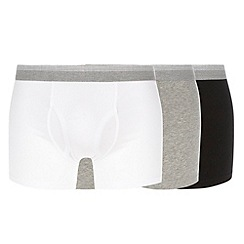 Thomas Nash - Pack of three grey black and white keyhole trunks