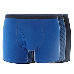 Thomas Nash - Pack of three blue plain and striped trunks