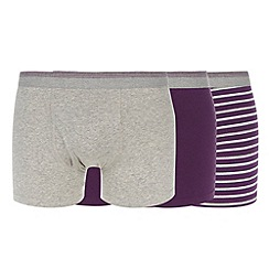 Thomas Nash - Pack of three purple keyhole trunks