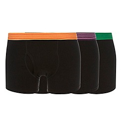 Thomas Nash - Pack of three black keyhole trunk boxer short