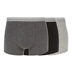 Thomas Nash - Pack of three black white and grey hipster trunks