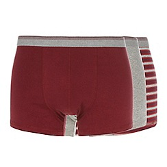 Thomas Nash - Pack of three dark red hipster trunks