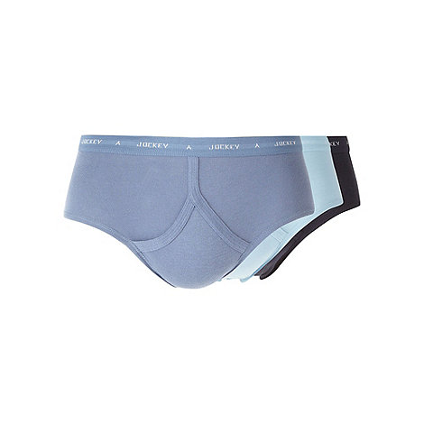 Jockey - Three pack of blue shades y-front briefs