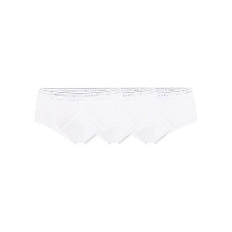 Jockey - Pack of three white classic briefs