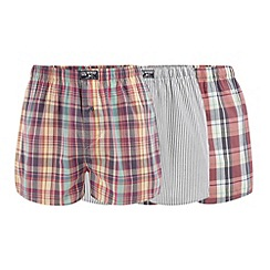 Mantaray - Pack of three multicoloured woven checked boxers