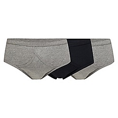 Debenhams - Pack of three grey and navy briefs