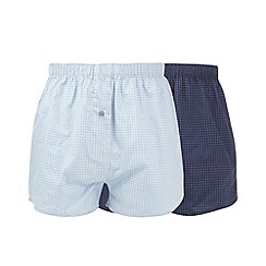 Thomas Nash - Pack of three blue woven boxer shorts
