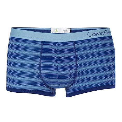Calvin Klein Underwear - Dark blue striped microfibre trunks