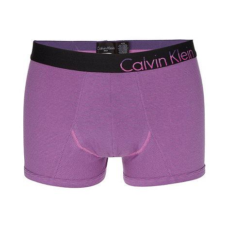 Calvin Klein Underwear - Purple limited edition striped trunks