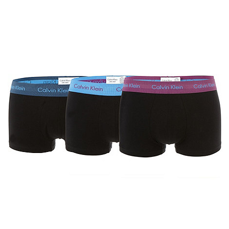 Calvin Klein Underwear - Pack of three black coloured waistband low rise trunks