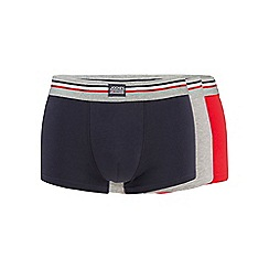 Jockey - Pack of three red navy and grey trunks