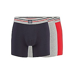 Jockey - Pack of three red navy and grey boxer trunks