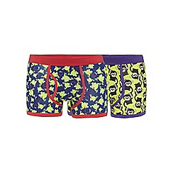 Red Herring - Pack of two green monkey and frog printed keyhole trunks