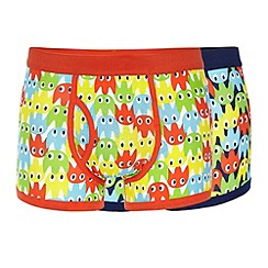 Red Herring - Pack of two navy and white ghost printed trunks