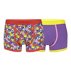 Red Herring - Pack of two light purple square faces trunks