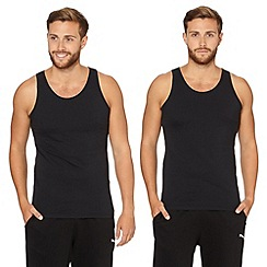 Thomas Nash - Pack of two black crew neck vests