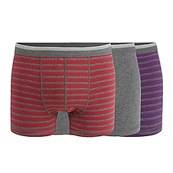 Thomas Nash - Pack of three grey striped hipster trunks