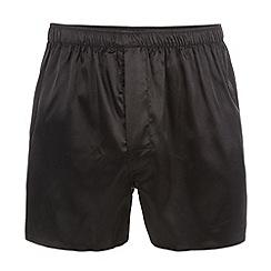 Thomas Nash - Black satin boxers