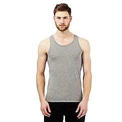 Thomas Nash - Pack of two grey plain vests