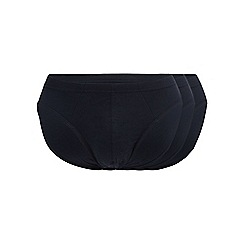 Debenhams Basics - Big and tall pack of three navy cotton slips