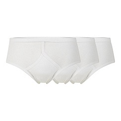 Thomas Nash - Pack of three white cotton briefs