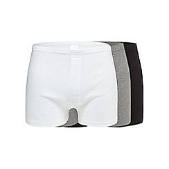 Debenhams Basics - Pack of three black, white and grey boxers