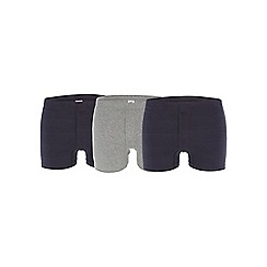 Debenhams Basics - Pack of three navy boxers