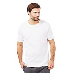 Debenhams - Big and tall pack of two white cotton crew neck t-shirts