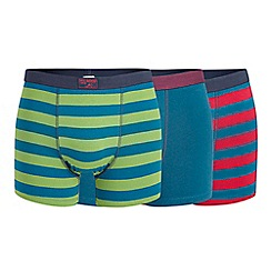 Mantaray - Pack of three turquoise striped trunks
