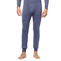 Maine New England - Blue brushed thermal long johns