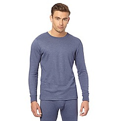 Maine New England - Blue thermal long sleeved top