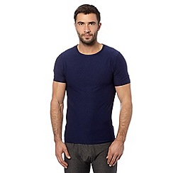 Maine New England - Navy lightweight thermal t-shirt