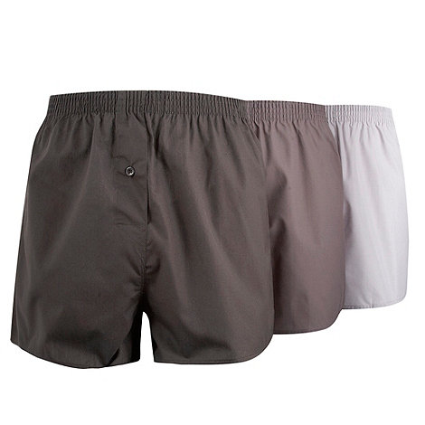Thomas Nash - Pack of three grey shades plain boxer shorts