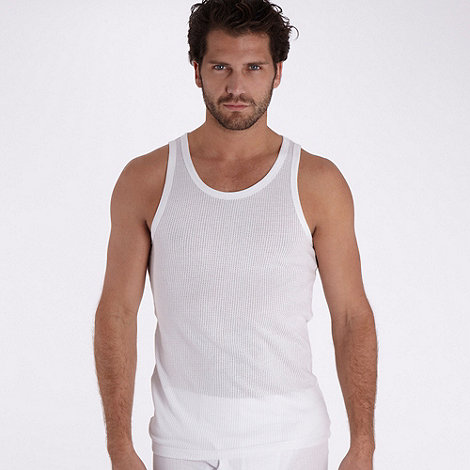 Thomas Nash - Pack of two  white mesh vests