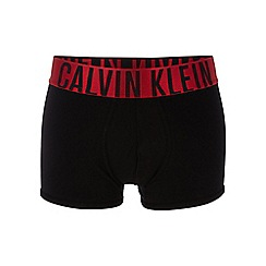Calvin Klein Underwear - POWER RED Black cotton stretch trunks