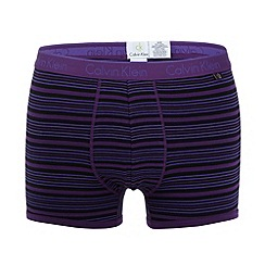 Calvin Klein Underwear - Purple multi striped trunks