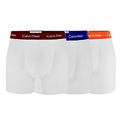 Calvin Klein Underwear - Pack of three white colour trunks