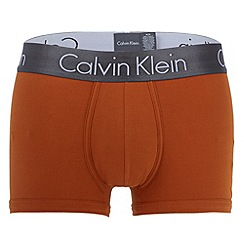 Calvin Klein Underwear - Orange 'zinc' waistband trunks