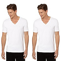 Calvin Klein Underwear - White 'Liquid Cotton' V neck t-shirt