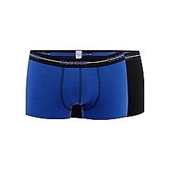 Sloggi - Pack of two blue and black plain hipster briefs
