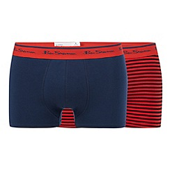 Ben Sherman - Pack of two red striped trunks