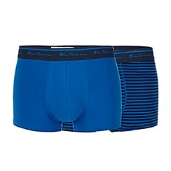 Ben Sherman - Pack of two blue striped trunks