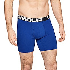 Emporio Armani - Pack of three blue cotton stretch trunks