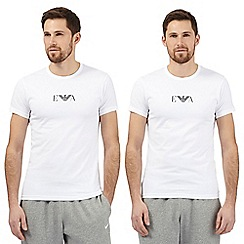 Emporio Armani - Pack of two white stretch t-shirts