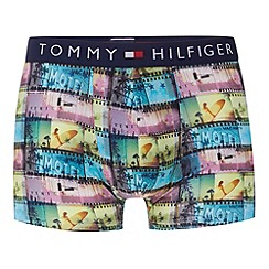 Tommy Hilfiger - Navy graphic beach film printed hipster trunks